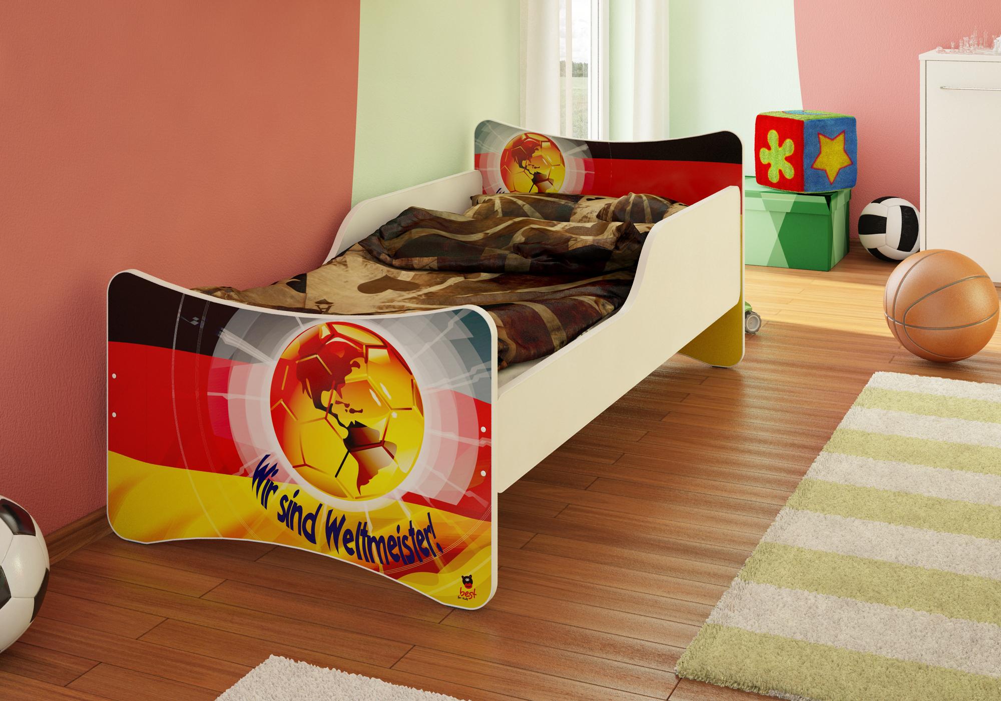 bfk weltmeister deutschland fu ball bett kinderbett 90x200. Black Bedroom Furniture Sets. Home Design Ideas