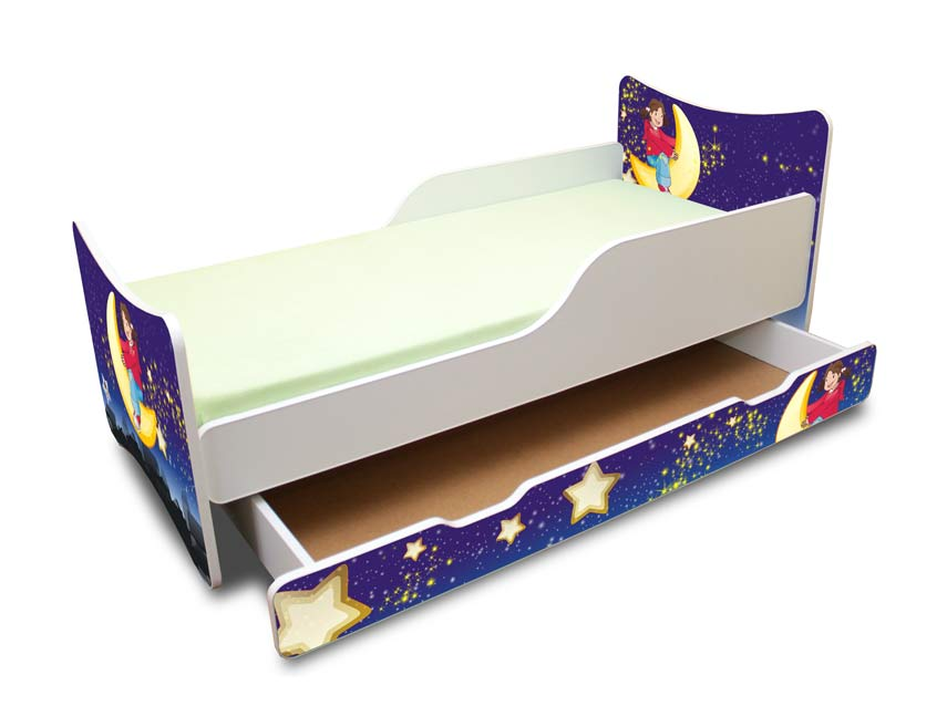 bfk best for kids kinderbett bett jugendbett schublade 4 gr en 7 motive neu ebay. Black Bedroom Furniture Sets. Home Design Ideas