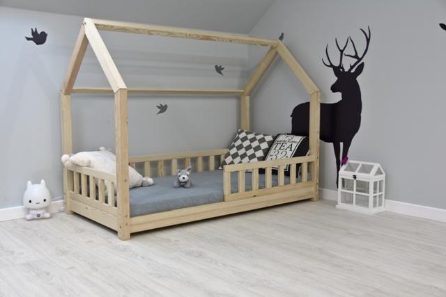kinderbett kinderhaus bett kinder h uschenbett hausbett holzbett rausfallschutz ebay. Black Bedroom Furniture Sets. Home Design Ideas